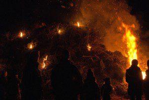 Biike brennen auf Föhr
