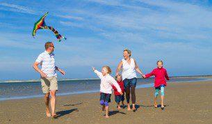 Familienspass am Strand von Utersum auf Foehr