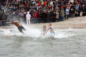Neujahrsschwimmen auf Föhr