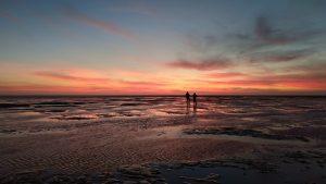 Sonnenuntergangsstimmung im Winter © Schutzstation Wattenmeer Föhr